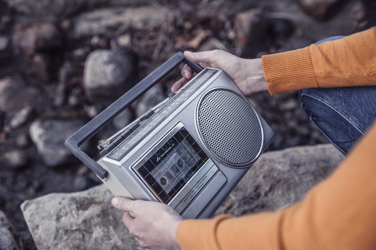 Holding a Radio